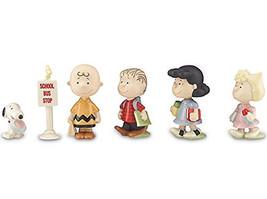 Lenox Peanuts Back To School 6 Piece Figurine Set Charlie Snoopy #841130... - $94.90