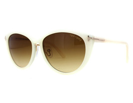 NEW Tom Ford FT0345-20F TF 345 Gina Ivory Brown Gradient Sunglasses (NO CASE) - $116.97