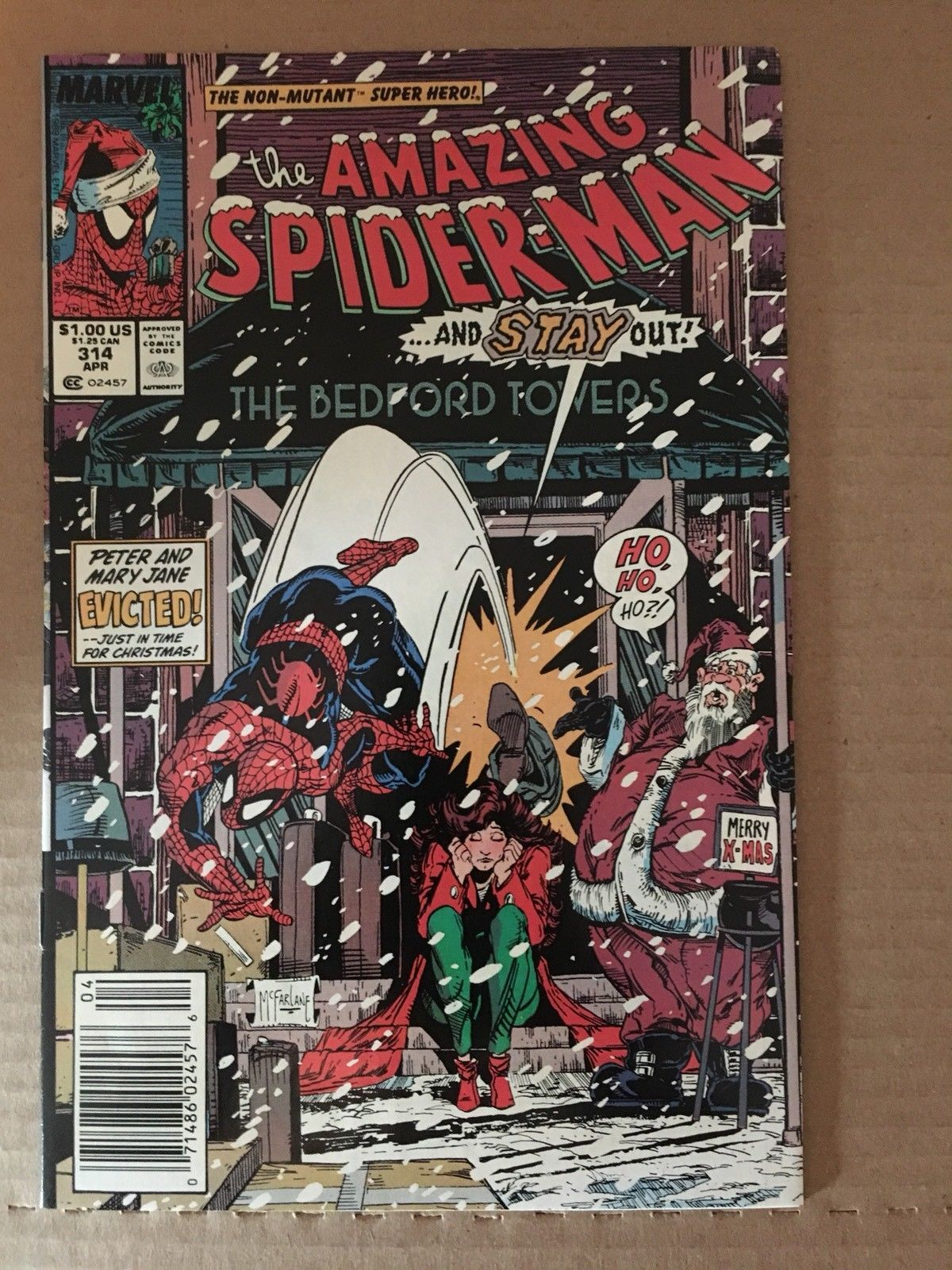 Amazing Spider-Man 314 Marvel Comic Book 1989 VF+ Condition