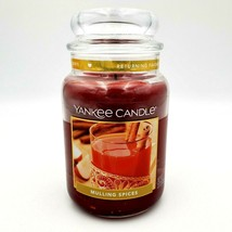 Yankee Candle MULLING SPICES Food Scented Large 22 oz. Used Once - $53.88