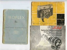 Ikoflex II A Retina IIIC & Linhof Optical Viewfinder Instruction Booklet... - $17.82