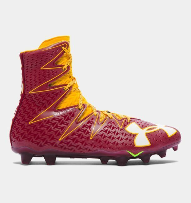 Primary image for Under Armour UA Highlight Football Cleats Garnet/Yellow 1269693-609 Men Size 11
