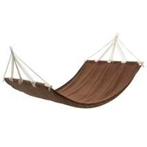 vidaXL Hanging Hammock Double Person Portable Brown Swing Chair Outdoor ... - $44.99