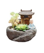 Planter Pot Buddhism Temple Monk Resin Flowerpot Succulent Flower Plants... - $17.75