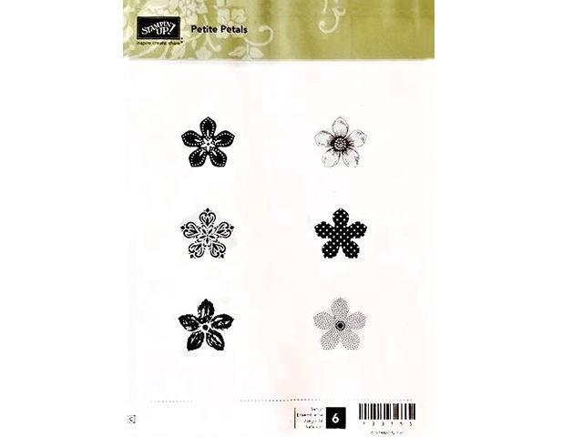 Primary image for Stampin' Up! Petite Petals Rubber Cling Stamp Set, #133155