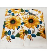"""2 SAME PRINTED TERRY KITCHEN COTTON TOWELS,16"""" x 26"""", SUNFLOWERS & LEAVE... - £10.52 GBP"""