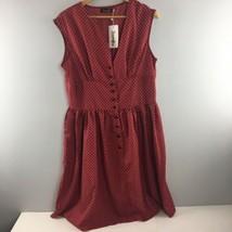 Sucrefas Dress XXXL Red White Polka Dot Sleeveless NWT - $16.83