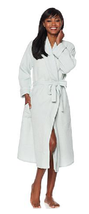 Cottage Collection Waffle Weave 100% Cotton Robe with Eyelet Trim, M/L ,... - ₨2,245.78 INR