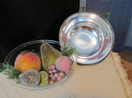 Reed & Barton Silver Plated Pedestal Bowl With Liner Sugar Coated Beaded... - $25.90