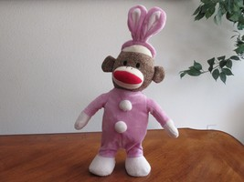 "Gemmy Sock Monkey Bunny Singing Animated Plush 11"" Doll Peter Cottontail... - $16.14"