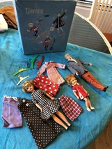 Vintage Ideal 1960's Original Tammy & Family Dolls Clothes, Extras & Case Ht F - $148.49