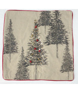 """Pottery Barn Tannen Embellished Tree Pillow Cover 18"""" Christmas New - $66.93"""