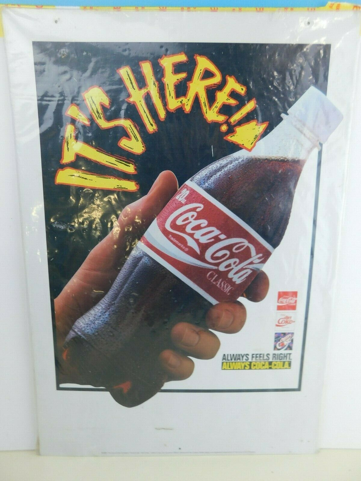 Primary image for Vintage Coca Cola  Display Hanging Sign Ceiling Dangler 1994 NOS New in Plastic