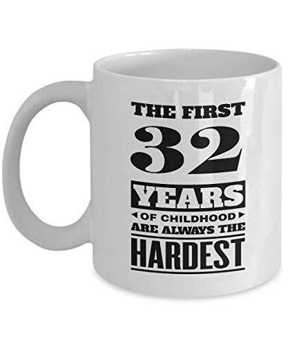 Primary image for BirthdayMugs - The First 32Years of Childood Coffee Mugs - Holiday 32nd Birthday