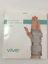 VIVE Reversible Wrist Brace Gray Removable Splints Adjustable  NEW - $14.88