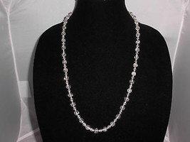 VTG Clear Glass Crystal Prism Bead Beaded Necklace Choker - $29.70