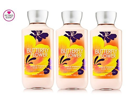 Bath & Body Works Butterfly Flower Body Lotion 8 oz (Lot of 3)