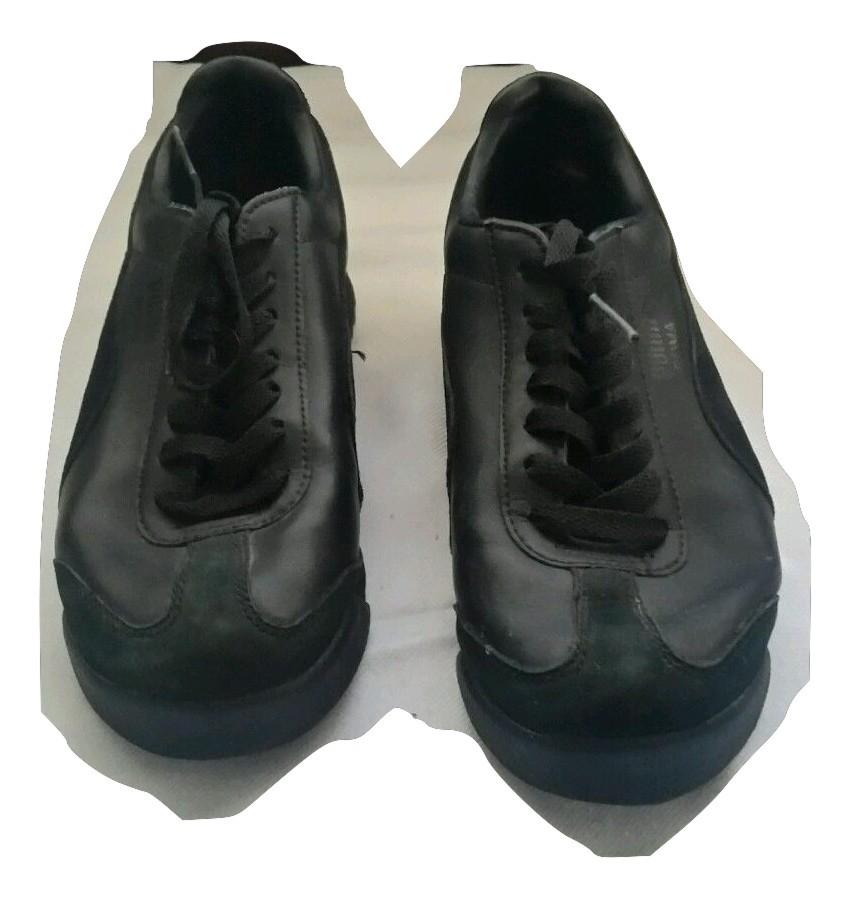 ... Puma Roma Basic Women s Black leather sneakers Sz 5 US   37 EUR- ... 557a48b7c