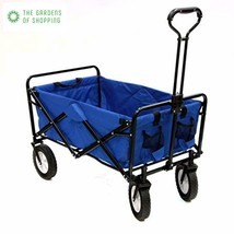 Mac Sports Collapsible Folding Outdoor Utility Wagon, Blue - $1.797,24 MXN