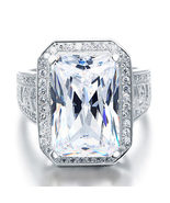 8.5 Carat Solid 925 Sterling Silver Wedding Engagement Ring Luxury Jewelry - $139.99