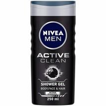 NIVEA Hommes Corps Lavage, Actif Nettoyage Avec Charbon, Gel Douche, 250ml (1) - $19.83