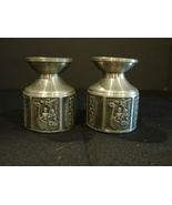 Pair of Norwegian Kong Tinn Pewter Taper Candle  Holders - $15.00
