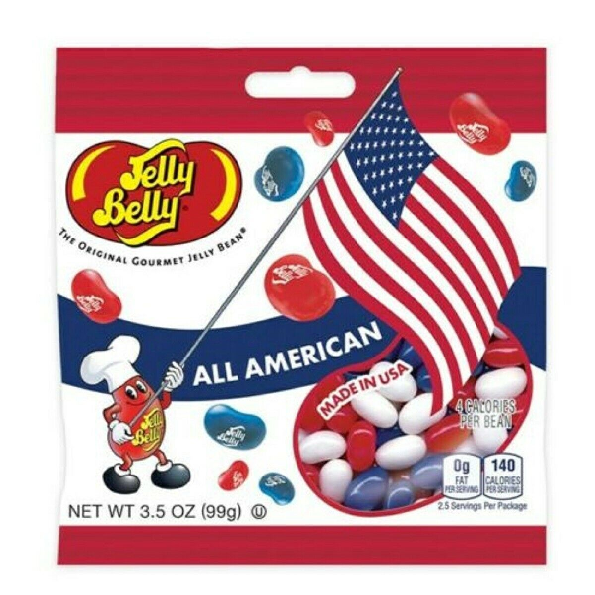 ALL AMERICAN MIX Jelly Belly  FRESH & TASTY  Candy - 3.5oz / bag
