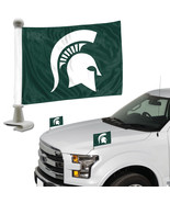 Michigan State Spartans Flag Set 2 Piece Ambassador Style [Free Shipping... - $17.49