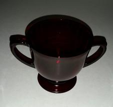 Vintage Anchor Hocking Royal Ruby Footed Open Sugar Bowl - $9.99