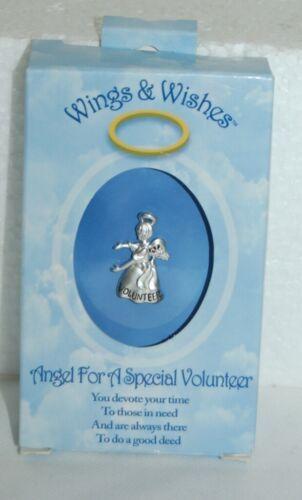 DM Merchandising Wings Wishes Special Volunteer Silver Colored Angel WGW3VOL