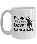 Dog Lover Coffee Mug Puppies Love Language White Ceramic Cup Gift Annive... - $19.75