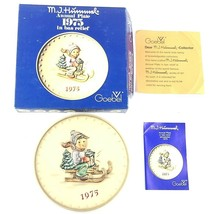 """Hummel Goebel Annual Collector Plate 1975 """"Ride into Christmas"""", in Orig... - $12.79"""