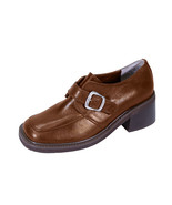 PEERAGE Elana Wide Width Casual Leather Shoes with Buckle - $39.95