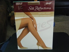 Hanes Silk Reflections Control Top Sandalfoot Pantyhose - Barely There -... - $16.82