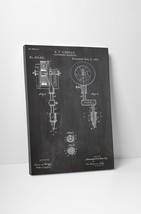 Tattooing Machine Patent Print Gallery Wrapped Canvas Print. BONUS WALL DECAL! - $44.50+