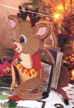 Bucilla Rudolph Reindeer Plastic Canvas Kit Card Holder Centerpiece 61263 - $27.95