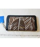Vera Bradley RFID Georgia Wallet 21168-G23481 Banana Leaves Brown zip cl... - $51.72