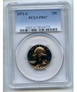 1971 S 25C Washington Quarter PCGS PR67 - $15.88
