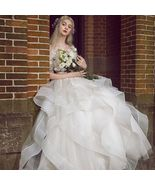 Chic / Beautiful White Wedding Dress Floor-Length / Long Ball Gown  ~ In... - $290.00