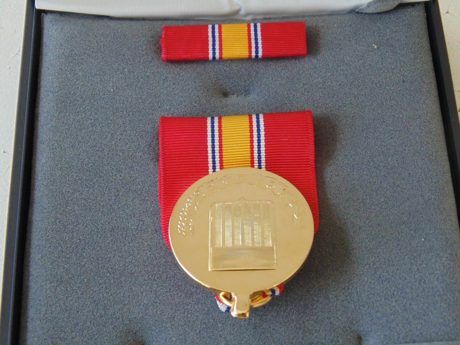 USCG US COAST GUARD UNISSUED CASED NATIONAL SERVICE MEDAL /& RIBBON SET #1CB