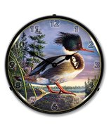 Red Breasted Mergan Brand New Backlit Lighted Clock Garage Office Collec... - $129.95