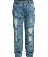 Tommy Hilfiger Nwt Grand Garçons Rebel Jean Coupe Skinny Taille 8 Délavé... - $29.82