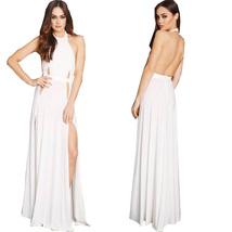 Sexy Women Sleeveless Open Back Split Side Evening Party Long Dress W851169 - $22.99