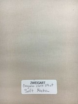 Zweigart Congress Cloth Blank 24 Mesh Needlepoint Canvas Soft Mocha - $9.98+