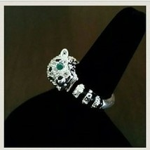 FANCY LEOPARD WRAP  RING SIZE 10 - $16.00