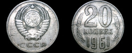 1961 Russian 20 Kopek World Coin - Russia USSR Soviet Union CCCP - $4.99