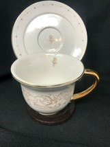 Disney china beauty and the beast Tea Cup & Saucer Set Potts Cogsworth L... - $44.55