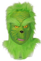 Grinch Cosplay Latex Mask How the Grinch Stole Christmas Green Helmet Co... - $85.58 CAD