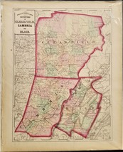 1876 antique CLEARFIELD CAMBRIA BLAIR MAP from Atlas of Pennsylvania - $42.50