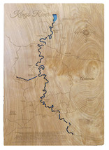 Personalized - Kings River, Arkansas - Wood Laser Cut Ma - $124.99+